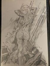 Sexy Mera Aquaman Original Art Sketch 13x19