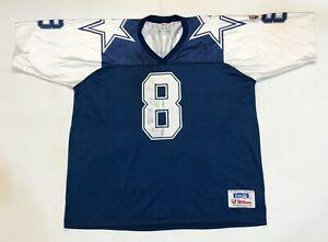 Vintage Wilson NFL Dallas Cowboys AIKMAN #8 Football Jersey XL/XXL Navy Blue USA