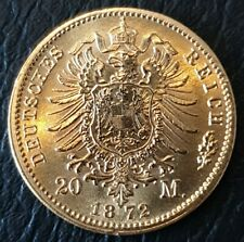 More details for 1872 a germany wilhelm gold 20 mark (agw 0.2305)