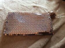 Mac Cosmetics Snow Ball Holiday 2017 Sequin Gold Face Bag - Bag Only