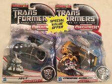Transformers DOTM Dark Of The Moon Jolt & Cyberfire Bumblebee NIB FS in US