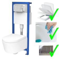 All-In-One Lavita Vorwandelement + Wand WC ohne Spülrand + WC-Sitz Soft-Close