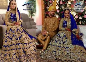 ANARKALI LEHNGA CHOLI SALWAR KAMEEZ DESIGNER SUIT WEDDING BRIDAL DRESS EID