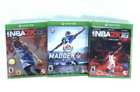 XBOX ONE NBA 2k 15 NBA 2K 16 & Madden NFL 16 Basketball & NFL Bundle Lot Of 3