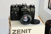 RARE ZENIT TTL OLYMPIC EDITION SOVIET SLR film camera w/s lens Helios 44M EXC