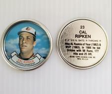 Mint # 23 Cal Ripken Jr. 1987 Topps Coin Baltimore Orioles