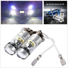 2Pcs H3 White 6000K 100W Auto DRL Fog Light Bulb Replacement 3030 SMD LED Bulbs