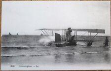 Hydroplane/Seaplane/Biplane 1921 French Aviation Postcard - Hydroaeroplane