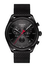 TISSOT PR 100 Chronograph Black Dial Mesh Band Men's Watch T101.417.33.051.00