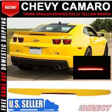 10-13 Chevy Camaro ZL1 Style Trunk Spoiler Painted Rally Yellow WA9414