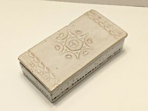 Vintage Bitossi Raymor Italy Mid Century Modern Pottery 1970's Architectural Box