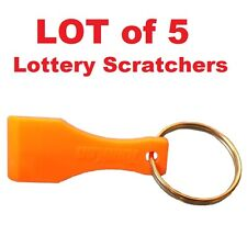 LOT OF 5 - Lottery Ticket Scratcher Keychains Scraper Key Ring Fob