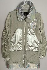 Men's Long Coat by MCM Grey with Silver Elements size Medium Retail $1885