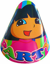 DORA THE EXPLORER FANCY PARTY HATS - PARTY SUPPLIES - PACK OF 8