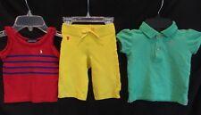Ralph Lauren Baby Girls Mixed Lot of 3 Shirts Capri Pants of Spring Summer  12M