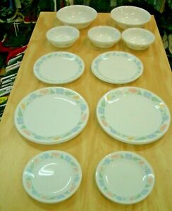 Corelle Dishware by Corning 3 sets , 3 designs. 34 Pieces - Sell for Charity