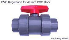PVC Rohr Kugelhahn 40 mm 2 Wege Kunststoff Kugelventil Klebeanschluß Klebemuffe