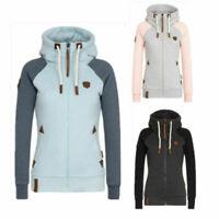 Womens Fleece Zip Up Hoodies Hooded Ladies Swetshirt Jumper Jacket Hoody Coats