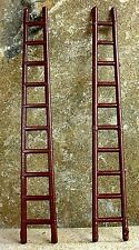 """Vintage """"Wooden"""" Fire Ladders (2) 1/24 Scale G Scale Diorama Accessory Items"""