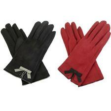 New Womens Suedette Winter Gloves Ladies Warm Winter Gloves Free UK Delivery