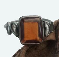Beautiful Gomed Gemstone Slice Rose Cut Diamond Ring 925 Silver Jewelry LoveGift