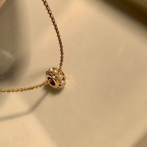 8 Echte Perlen 585 14K Gelbgold Anhänger_Top Zustand! Sehr hübsch! 9mm x 5mm