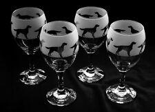 More details for red setter / irish setter dog gift wine glasses..boxed
