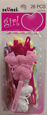 Scunci Kids Butterfly Hinge Barrettes 28 Count Assorted Colors