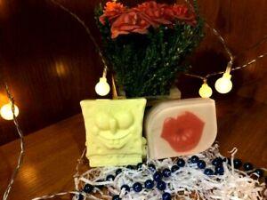 Organic Handmade Soap SPUNCH BOB Sweet Lips Set 2 pcs FREE SHIPPING