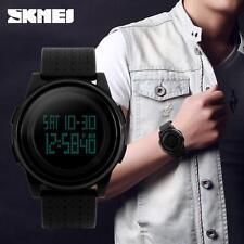 SKMEI Schwarz Herrenuhr Digital Armbanduhr Army Militär Quartz Alarm Sport Watch