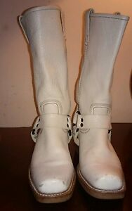 Frye BOOTS LEATHER IVORY 7 M