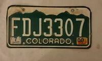 Colorado License Plate #FDJ3307 Man cave F3