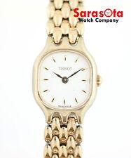 Vintage Tissot White Dial Gold Tone Stainless Steel Swiss Quartz Women's Watch
