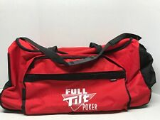 Full Tilt Poker Sport Duffel Gym & RollingTravel Bag Black/Red Luggage