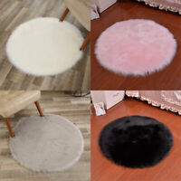 Plush Wool Baby Game Gym Activity Play Mat Crawling Blanket Floor Round Home Rug