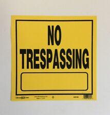 Hillman 840165 No Trespassing Plastic Sign 11 x 11 Inches