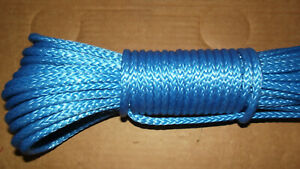 """NEW 5/16""""x 60' Dyneema Winch Line, Synthetic Pulling Rope, 12-Strand Braid"""