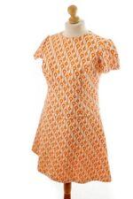 Vintage orig 60er Minikleid Kleid Disco orange Muster Schlager Rockabella 44