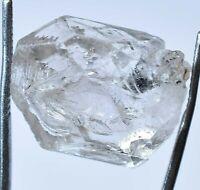 24.40 Ct Rare Herkimer Diamond Water Clear Quartz Crystal Anthraxolite Rough