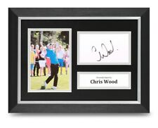Chris Wood Signed A4 Framed Photo Display Golf Autograph Memorabilia + COA