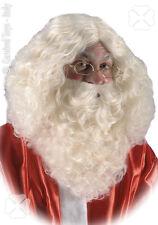 Perruque du Père Noël avec barbe naturelle [2365] deguisement costume reveillon