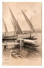 Quai Des Paquis - Geneve Photo Postcard 1910