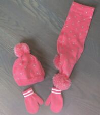 Carters Knit Hat/Scarf And Mittens 12-24 Months