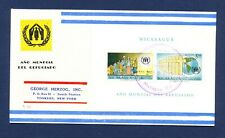 NICARAGUA - # C453a  S/S  on FDC mailed to USA - 1961