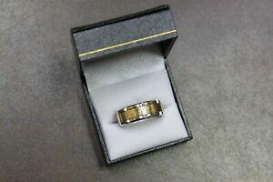 Carlex WB-9481YW Gents Luxury 18K White & Yellow Gold Ring