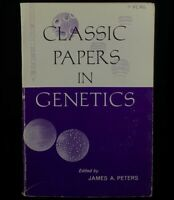Classic Papers in Genetics by James A. Peters [1964, Paperback] FREE SHIPPING