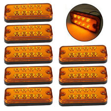 8X ORANGE MARKER SIDE LED TRAILER TRUCK RECOVERY POSITION LIGHTS LAMPS 12V 24V