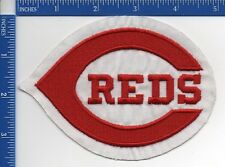 "Authentic MLB- Cincinnati Reds logo patch 1993-1998 Red on White NOS 3 1/2"" X 5"""