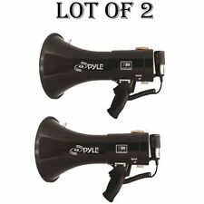 (2) Pyle PMP53IN 50W Professional Megaphone W/Siren & 3.5 Aux-Input For iPod MP3