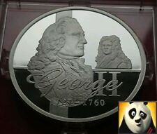 KING GEORGE II  SILVER PROOF COIN MEDAL ONLY 15,000 WORLDWIDE!